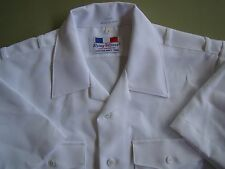 US NAVY USN ALL RANKS ALL RATES OFFICER'S S/S SUMMER DRESS WHITE SHIRT SIZE SM