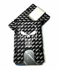 Punisher Carbon Fiber Pattern, Aluminum Wallet RFID Protection, Black