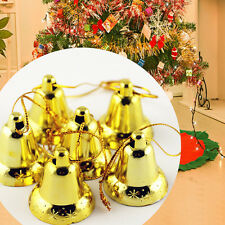 9PCS Christmas Xmas Baubles Tree Hanging Decoration Gold Bell Party Ornament Hot