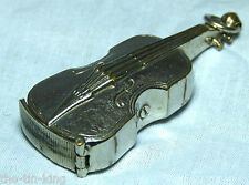 SPLENDID ANTIQUE FIGURAL VIOLIN CELLO DOUBLE BASS VESTA CASE MATCH SAFE