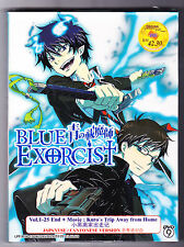 *NEW* BLUE EXORCIST *25 EPISODES + MOVIE *ENGLISH SUBTITLES*ANIME DVD*US SELLER*