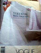 LOVELY VOGUE WEDDING BRIDAL DRESS VERA WANG Sewing Pattern 12-14-16