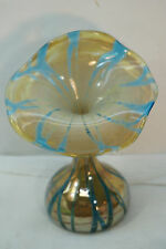VINTAGE BOHEMIAN GLASS VASE JACK IN THE PULPIT JIP IRIDIZED 7in ART GLASS CZECH