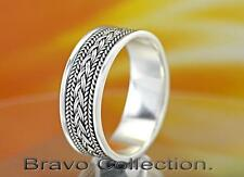 SIZE 13  Solid Sterling Silver Formal / Informal Wear New Band Men Ring R-223