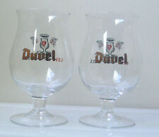 DUVEL Limited Edition Tulip Shape BEER Glasses/PAIR -Collectibles
