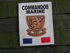 Patch Velcro - COMMANDOS MARINE - FRANCE FORCES SPECIALES - COS format GORE TEX