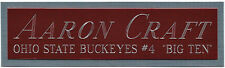 AARON CRAFT OHIO STATE NAMEPLATE FOR AUTOGRAPHED Signed BASKETBALL-JERSEY-PHOTO