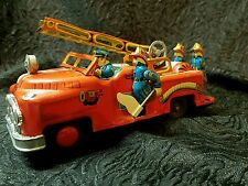 Very hard to find  RARE 1950's Japan Nomura Tin Toy FLAG FIRE ENGINE (TODAY ONLY