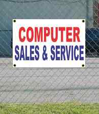 2x3 COMPUTER SALES & SERVICE Red White & Blue Banner Sign Discount Size Price
