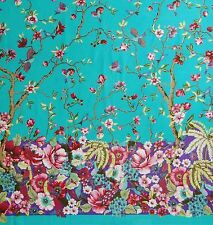 """Blue Indian Fabric Cotton Material 44"""" Wide Designer Fabric For Sewing By 1 Ya"""