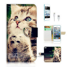 iPod Touch iTouch 5 Print Flip Wallet Case Cover! Pray Cat Pussy P0080