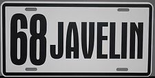 1968 68 JAVELIN METAL LICENSE PLATE AMERICAN MOTORS AMC AMX 390