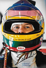 Jacques Villeneuve SIGNED 12x8  Helmet Portrait 2008