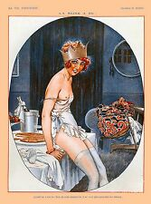 1920's La Vie Parisienne French Crown France Travel Advertisement Poster