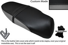 BLACK & GREY CUSTOM FITS DIRECT BIKES TOMMY 125 DUAL LEATHER SEAT COVER