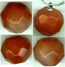 AD100 Ancient Roman Thrace (Bulgaria) Faceted 20½ct Quartz Carnelian Gem Pendant