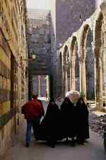 776037 Women In Black Dresses Omayyad Mosque Entrance Damascus Syria A4 Photo Pr