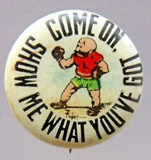 1910 Fisher Mutt & Jeff SHOW ME WHAT YOU'VE GOT Hassan Cigarette pinback button*