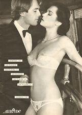 Publicité Advertising 1981 Lingerie AUBADE soutien gorge slip