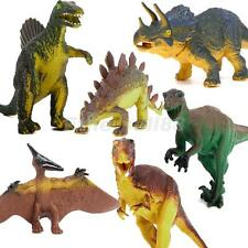 DINOSAUR AGES 6 pcs Set Tyrannosaurus Stegosaurus Triceratops Model Kids Toy