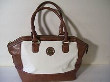 Large Anne Kline Faux Alligator Brown and White Ladies Purse/Shoulder Bag