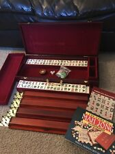 American Mahjong 166 Tiles Wooden Rack W/Dice & More! FREE BOOK INCLUDED!