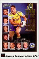 2011 Select NRL Strike Cards Team Of The Year TY1 Jarryd Hayne (EELS)