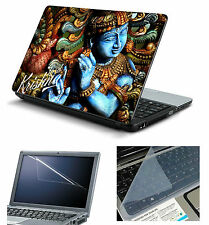 Krishna Laptop Accessories Combo 3in1 (Laptop Skin, Screen & Key Guard)