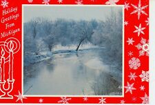 MICHIGAN HOLIDAY GREETINGS WINTER ALONG PINE RIVER J.PENROD  (CD#1*)