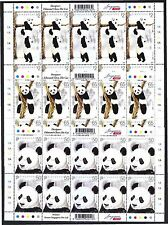 SINGAPORE 2012 GIANT PANDA 3 X FULL SHEET OF 10 STAMPS EACH IN MINT MNH UNUSED