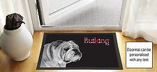 """24"""" x 16"""" Bulldog Union Jack Black Schizzo Disegno porta d'ingresso tappetino anti scivolo"""