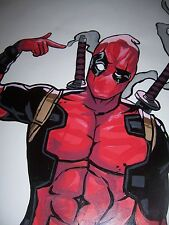 Deadpool Oil Painting 28x16 in. NOT a poster or print Framing available. X Men
