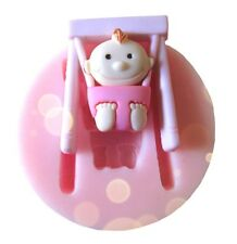 FD3166 Silicone Swing Baby Girl Fondant Chocolate Sugar Craft Cake Baking Mold