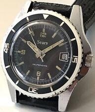 Rare Vintage Original 60s SEARS Sicura Breitling *SUBMARINER* Mens Divers Watch!