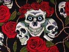 Calavera y Rosas Tela