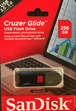 SanDisk Cruzer Glide 3.0 256GB USB 2.0/3.0 Compatible (SDCZ60-256G-A46)