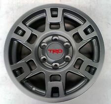 "Toyota FJ Cruiser 2007-2014 TRD Pro SEMA 17"" MATTE GRAY Alloy Rims Set OEM NEW!"
