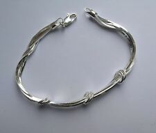 Sterling Silver Ladies 7.5 inch Square snake chain five strand Bracelet 11.2g