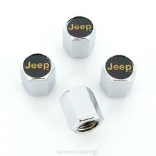 Jeep Gold Logo Tire Stem Valve Caps