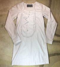 TASHI Lungta De Fancy SZ S Dress Lite Lavender Detail Sheath Made In Italy