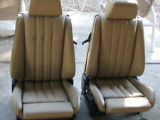 BMW E30 325i 318i M3 SPORT SEATS KIT OEM NATURAL 100% LEATHER BEAUTIFUL KIT ONLY
