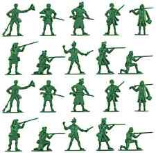 Accurate American Militia set #1 - 20 54mm unpainted toy soldiers in green color