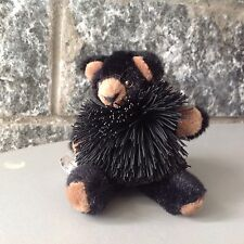 Vintage# Koosh Teddies Plush Oddzon# Rare Black Teddy New Without Carton