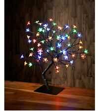 New Elegant Christmas Tree Light Up Bonsai Style Multi Colour with 64 LED