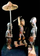 Fine Tribal Baule Colonial Master Figure  With a Condemned Man Cote D'ivoire