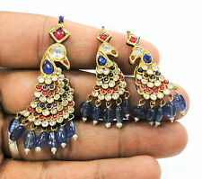 Vintage antique solid 20 carat Gold Pendant & earring pair Rajasthan India