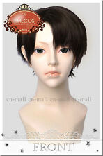 Attack on Titan Levi Black Brown Short Anime Cosplay costume Wig + free wig cap