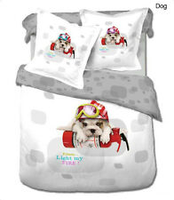 Toddler Bedding for Kids Room Modern Twin Duvet Cover Set, Le Vele Dog LE454T