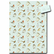 Bird and Animal Duck Egg Blue Wrapping Paper * Stylish gift wrap