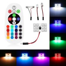 12SMD LED RGB Car Dome Light Atmosphere Lamp Interior Panel Reading Bulbs+Remote